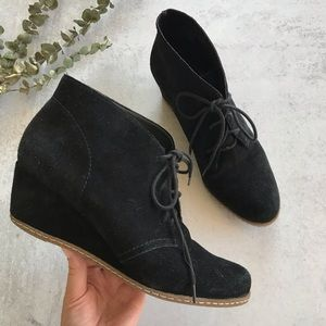 FRANCO SARTO Achen Suede Wedge Ankle Booties 9